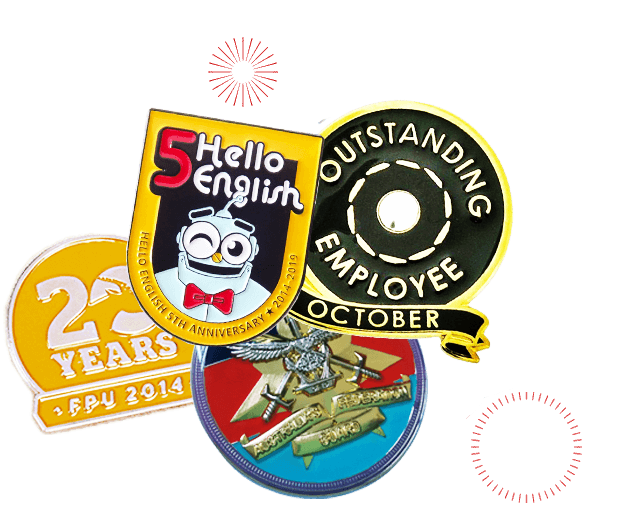 custom employee recognition pins banner