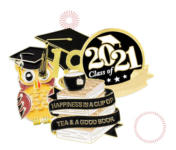 custom graduation pins banner