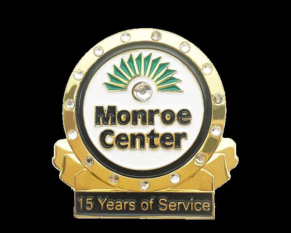 custom years of service pins