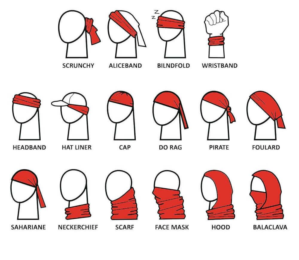 more ways to wear neck gaiter